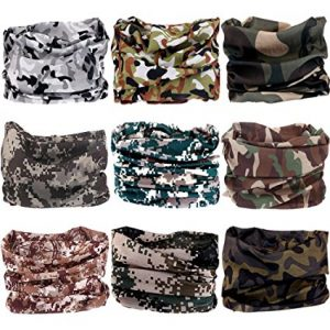Headwear Wide Headbands Scarf Head Wrap Mask Neck Warmer by VANCROWN