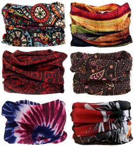 SmilerSmile 6pcs Assorted Seamless Outdoor Sports Bandanna Headwrap Scarf Wrap