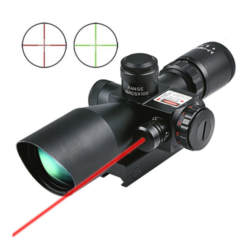 CVLIFE Hunting Rifle Scope 2.5-10x40e with Red & Green Illuminated Gun Scopes